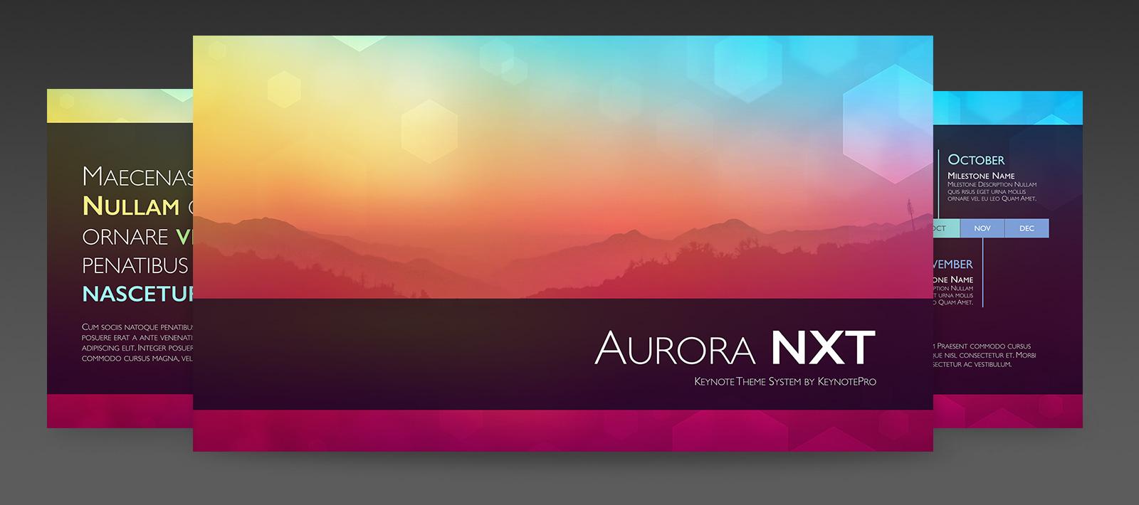 keynotepro keynote themes aurora nxt