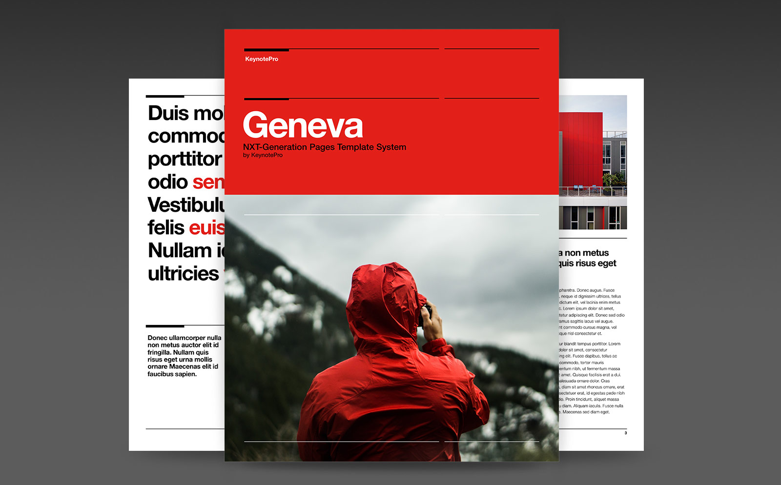 Keynotepro Pages Templates Geneva Nxt For Pages
