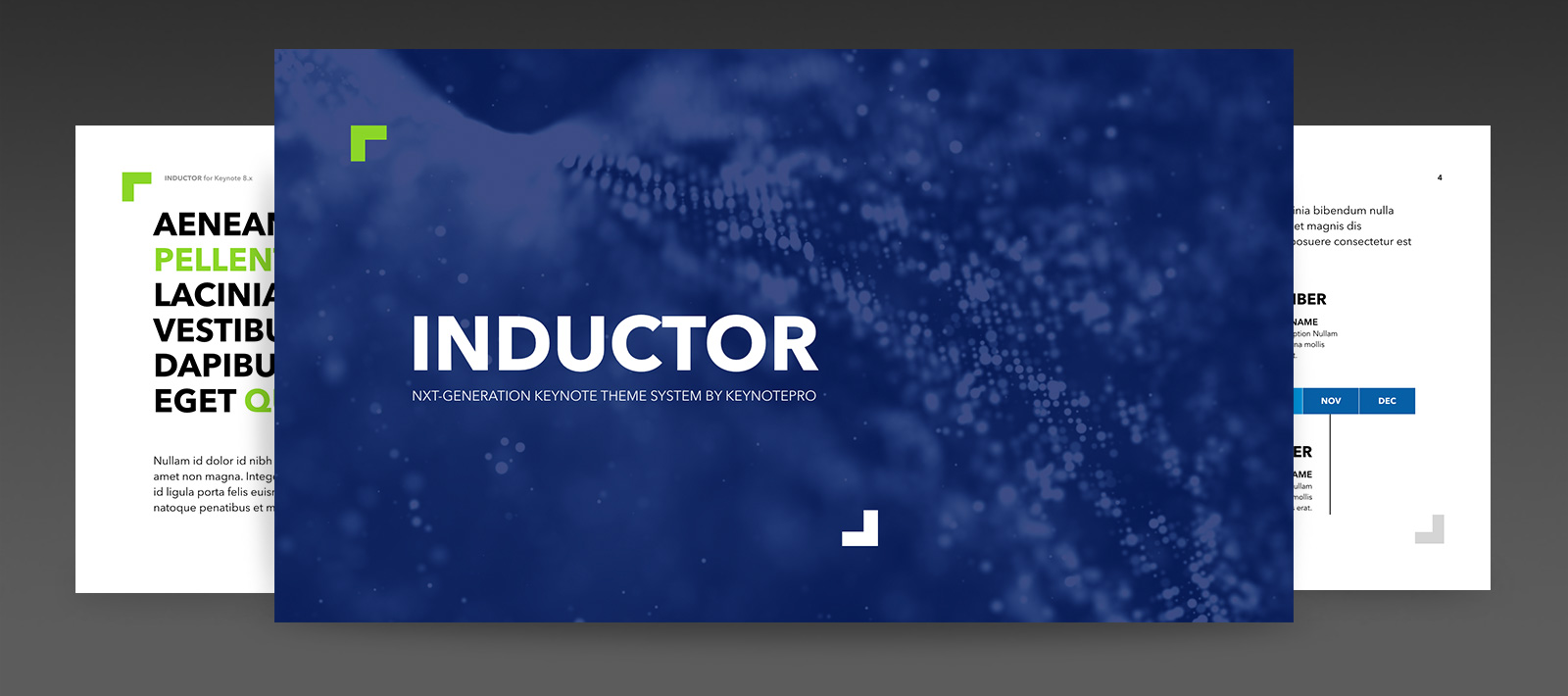 Inductor | NXT-Generation Keynote Theme System from KeynotePro