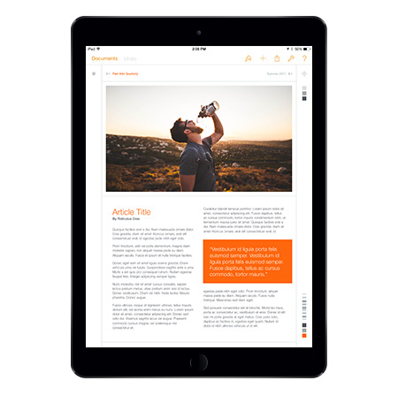 Palo Alto NXT editing in Pages for iOS