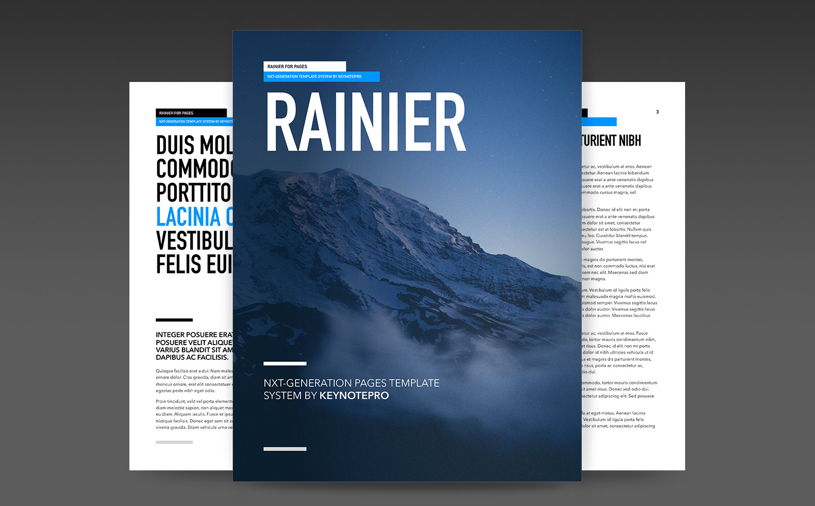Rainier (NXT) Template System for Pages