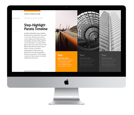 Verge for Keynote Step-Highlight Timeline Template