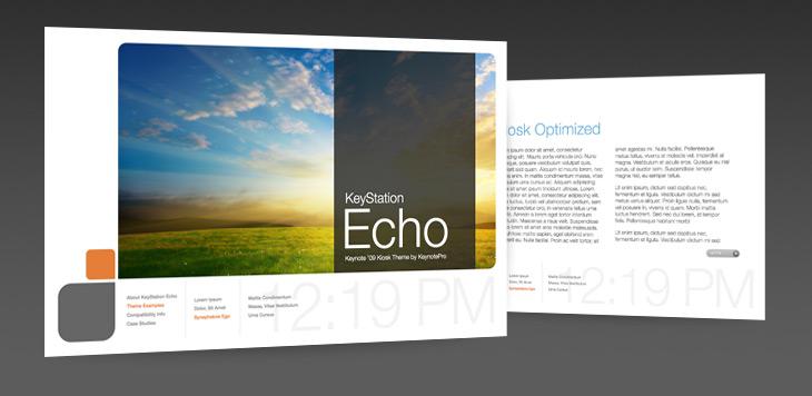 keynotepro announces keystation echo theme for keynote 09 prmac