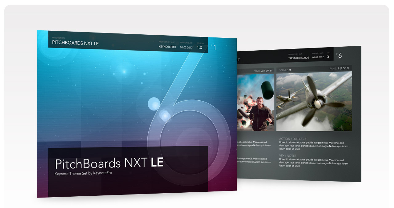 PitchBoards NXT LE - Free Keynote Theme