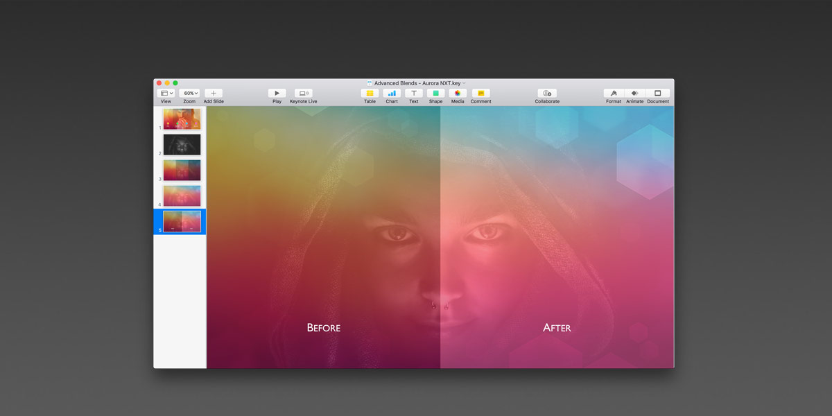 Use Advance Image Adjustment Tools to perfect your image blends in Keynote 7