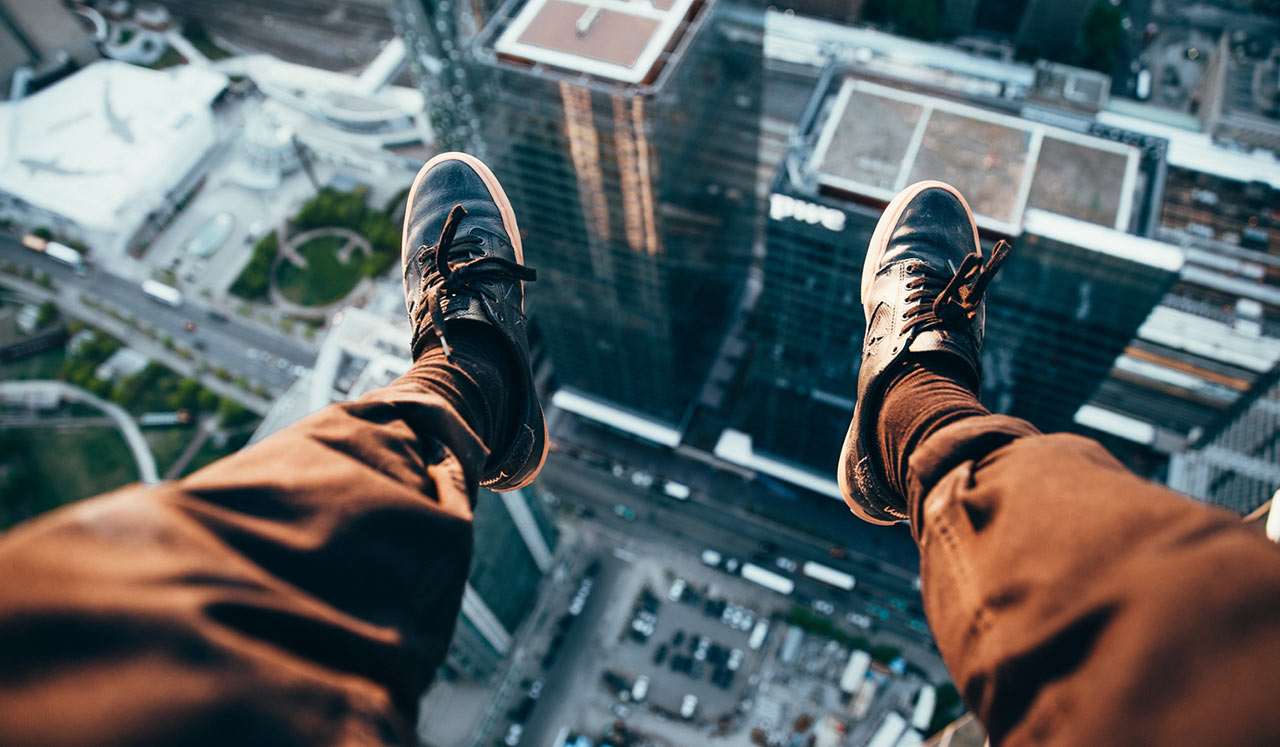 Brodie Vissers - Rooftopper Looking Down - 2015. Via Burst.Shopify.com