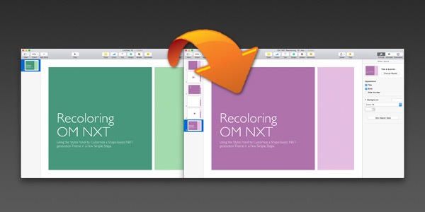 Theme Recoloring in Keynote 6.x/7.x